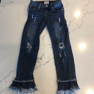 Hudson girls ruffle crop jean